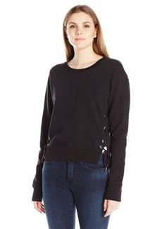 True Religion Women's Lace Side Sweatshirt in