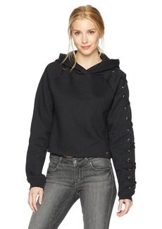 True Religion Women's Lace up Sleeve Hoodie  L