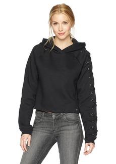 True Religion Women's Lace up Sleeve Hoodie  XS