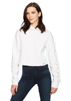 True Religion Women's Lace up Sleeve Hoodie2  S