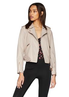 True Religion Women's Leather Moto Jacket  XS