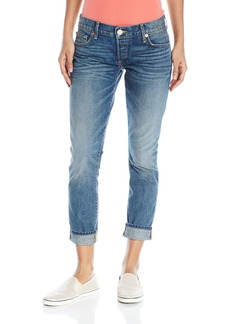 True Religion Women's Liv Rolled Boyfriend Jean Z