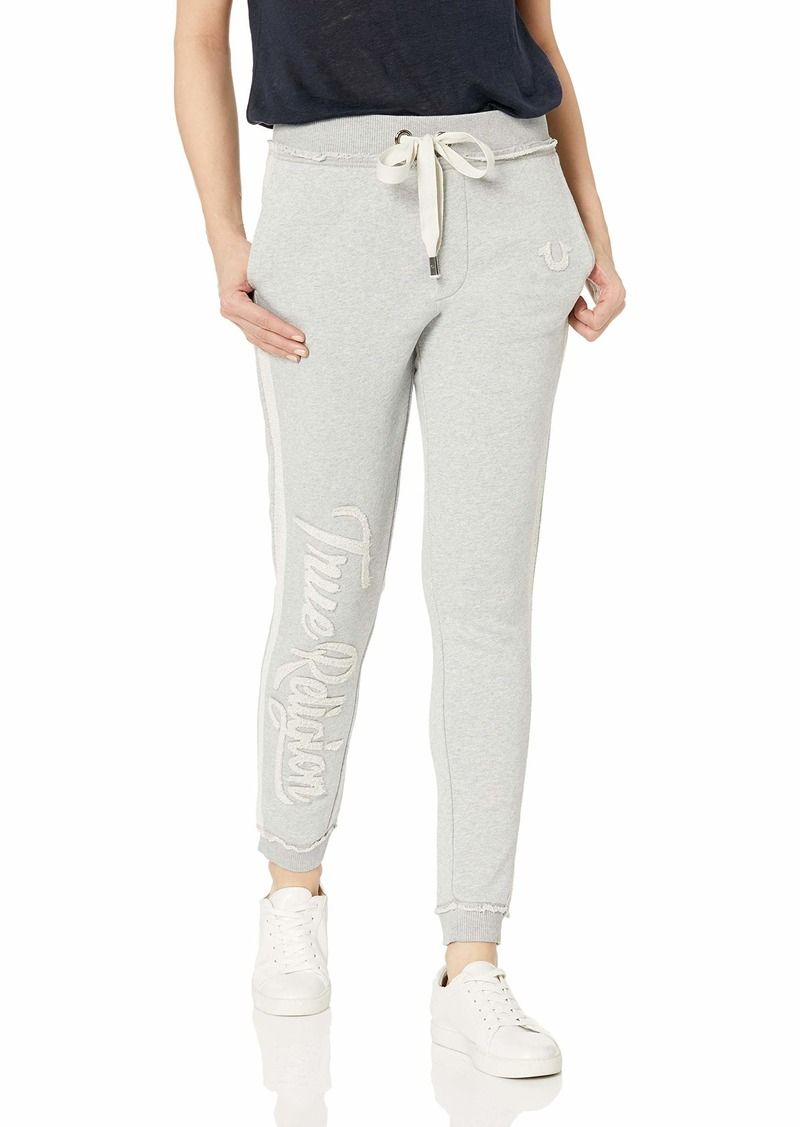 True Religion Women's Logo Jogger Pant  M