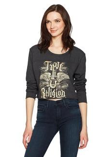 True Religion Women's Long Sleeve Concert Tee  S