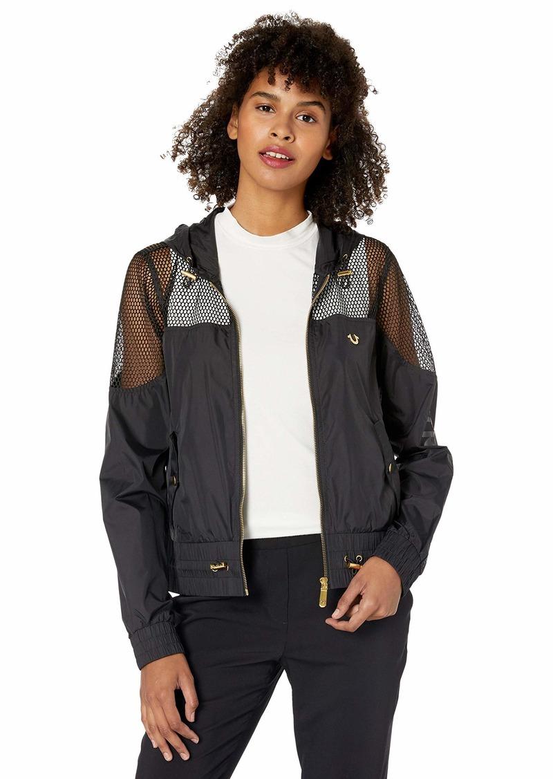 True Religion Women's MESH Cropped Jacket  M