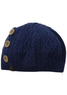 True Religion Women's Slouchy Hat with Buttons