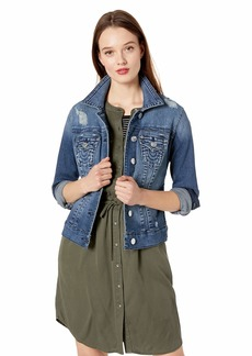 True Religion Women's Trucker Jacket W Destroy Meet Me at The Equinox M
