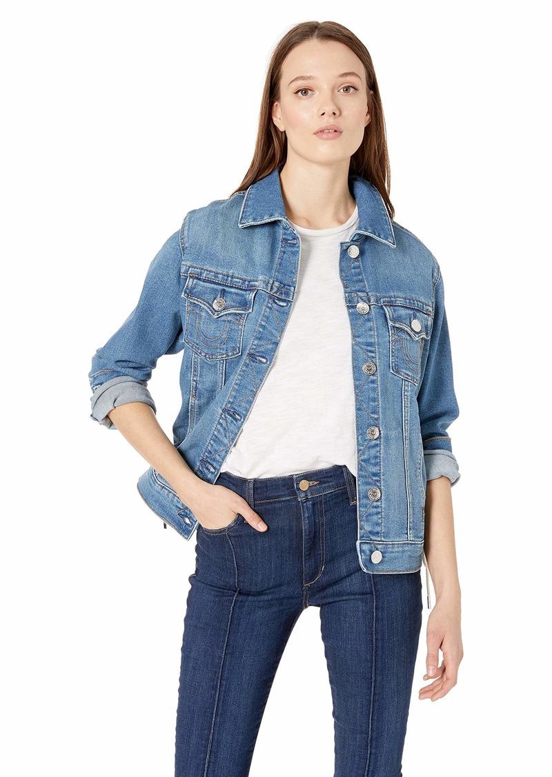 True Religion Women's Trucker Jacket W Lacing  XS