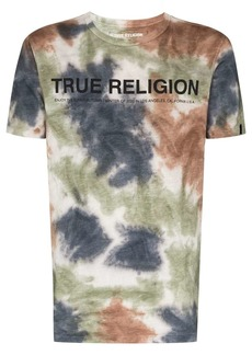 True Religion tie dye logo T-shirt