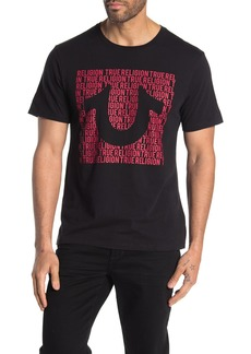 True Religion U Script Short Sleeve Crew Neck T-Shirt