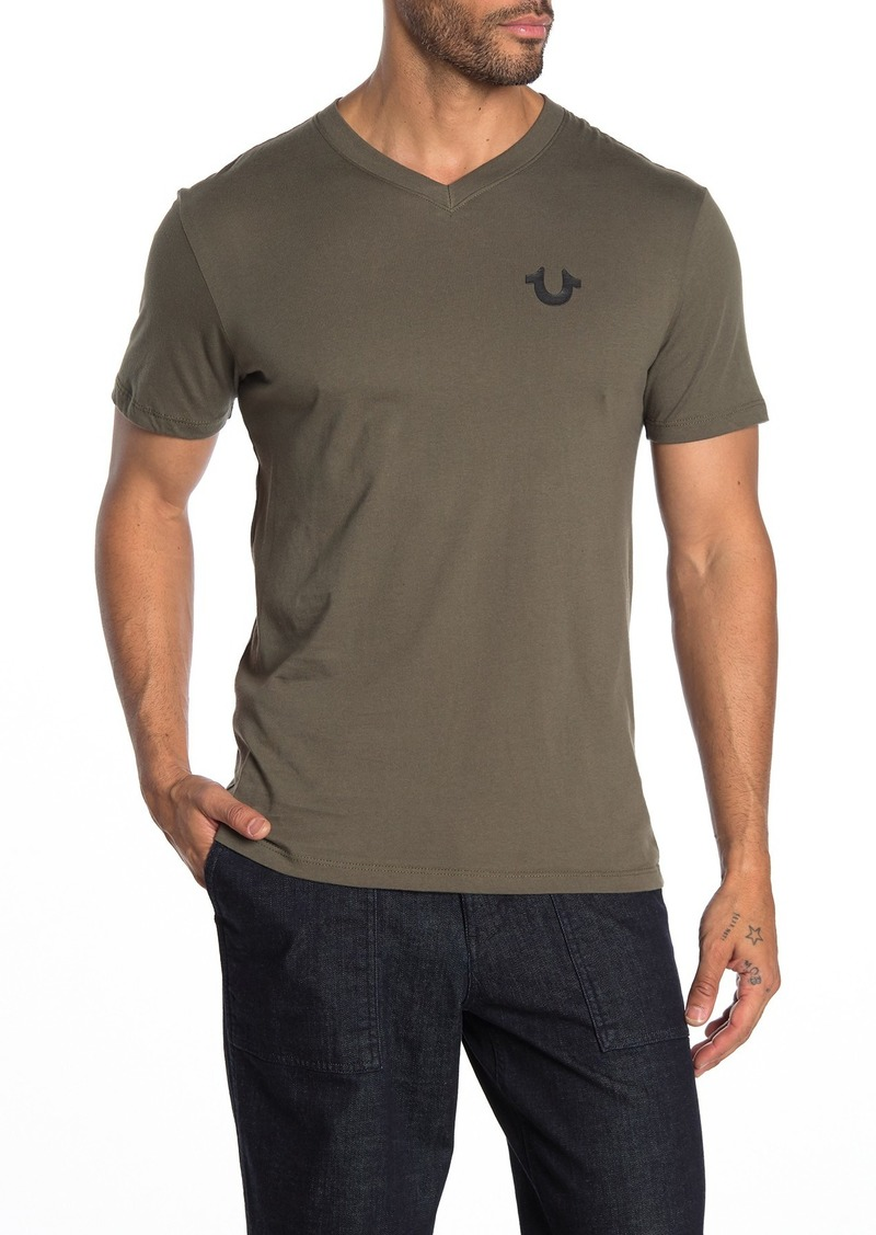 True Religion V-Neck Horseshoe Logo T-Shirt