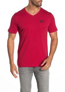 True Religion V-Neck Horseshoe Logo T-Shirt