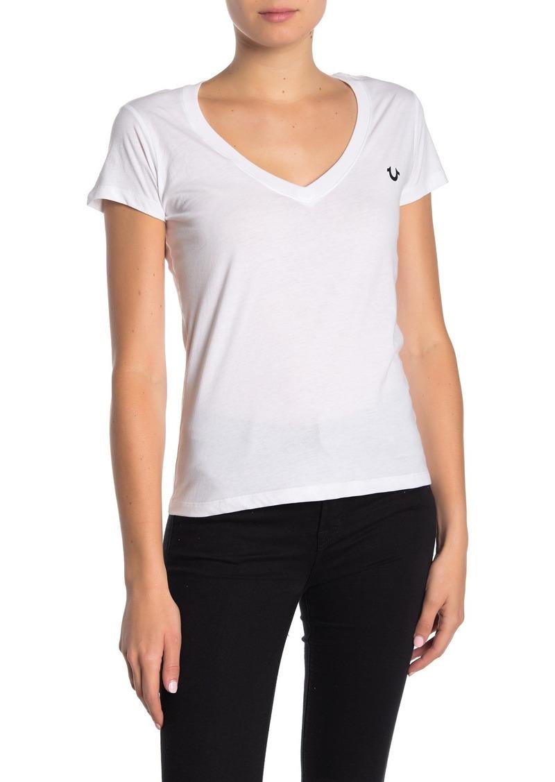 True Religion V-neck Short Sleeve T-Shirt