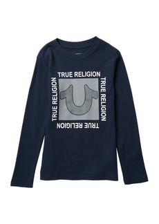 True Religion Waffle Knit Long Sleeve T-Shirt (Big Boys)