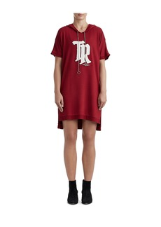 True Religion WOMANS DOLMAN HOODIE SHIFT DRESS W/