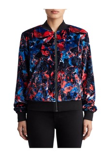 True Religion WOMENS GRAPHIC VELVET BOMBER JACKET