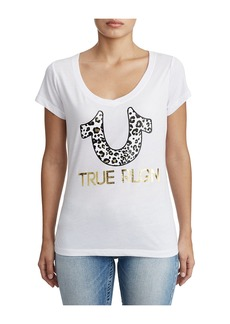 True Religion WOMENS LEOPARD PRINT GRAPHIC TEE