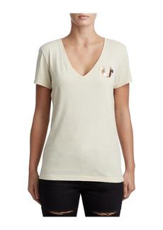 8a4ea15c True Religion WOMENS CRYSTAL 02 DEEP V TEE | Casual Shirts