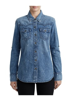 True Religion WOMENS PAINT SPLATTER WESTERN DENIM