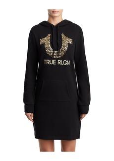 True Religion WOMENS SEQUIN SWEATSHIRT DRESS W/ H