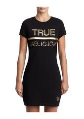 True Religion WOMENS SEQUIN T-SHIRT DRESS