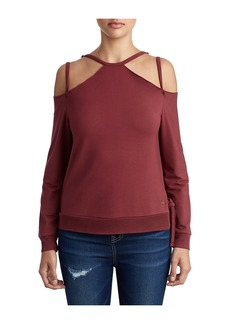 True Religion WOMENS STRAPPY COLD SHOULDER TOP