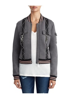 True Religion WOMENS UTILITY CLIP BOMBER JACKET