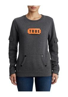True Religion WOMENS UTILITY LOGO PULLOVER