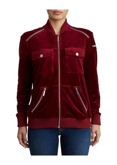 True Religion WOMENS VELOUR BOMBER JACKET