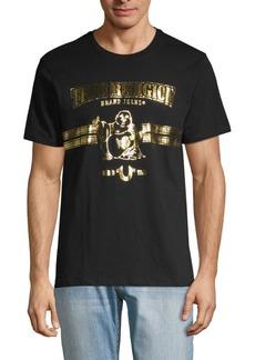 True Religion World Tour Metallic Buddha Cotton Tee