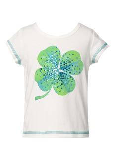 Truly Me Kids' Embellished Four Leaf Clover Graphic Tee (Toddler & Little Girl)