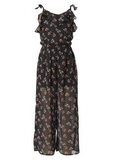 Truly Me Kids' Floral Print Jumpsuit (Big Girl)