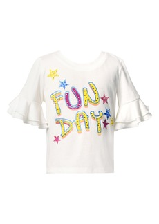 Truly Me Kids' Fun Day Embellished T-Shirt (Toddler & Little Girl)