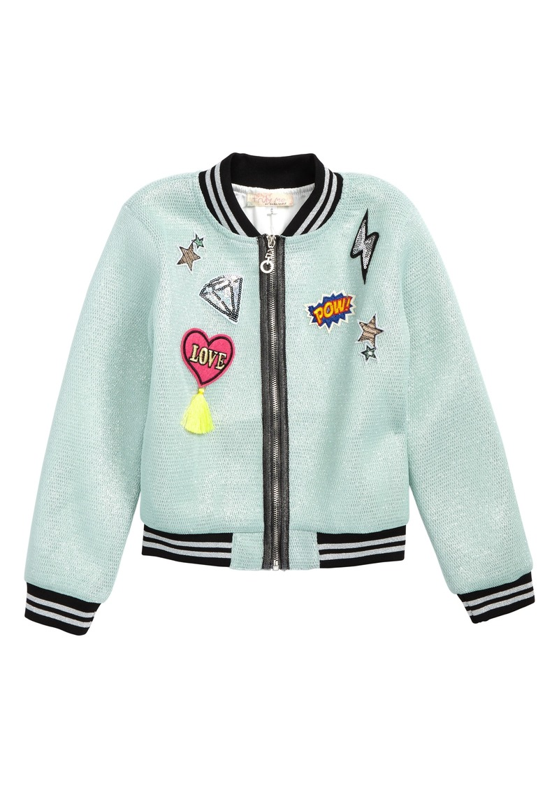 6cae0606c08 Truly Truly Me Patches Mesh Bomber Jacket (Toddler Girls & Little Girls)