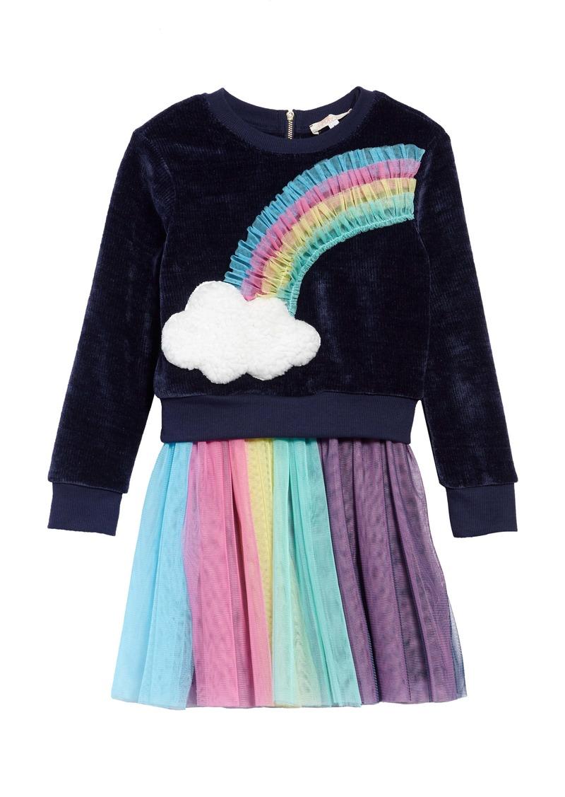 Truly Me Rainbow Sweatshirt & Tulle Dress Set (Toddler Girls, Little Girls & Big Girls)