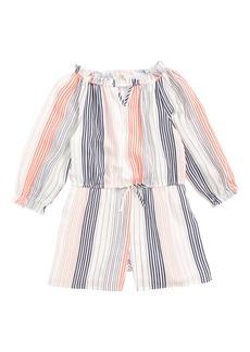 Truly Me Stripe Romper (Toddler Girls & Little Girls)
