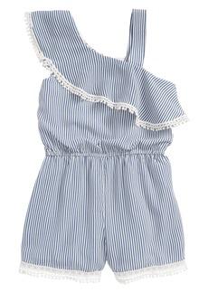 Truly Me Stripe Ruffle Romper (Toddler Girls & Little Girls)