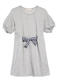 Truly Me Tie Front Gingham Bow Dress (Toddler Girls & Little Girls)