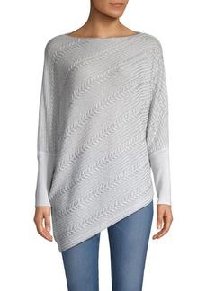 TSE Asymmetrical Cable KnitSweater