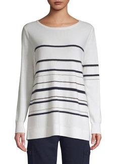 TSE Cashmere Chain Stripe Long Sleeve Sweater