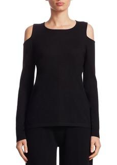 TSE Cashmere Cold-Shoulder Sweater