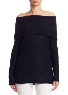 TSE Cashmere Off-The-Shoulder Sweater