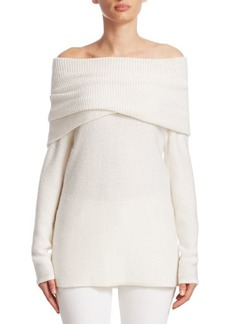TSE Cashmere Off-The-Shoulder Top