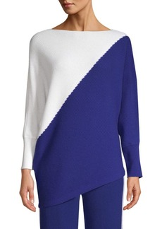 TSE Ribbed Cashmere Colorblocked Sweater