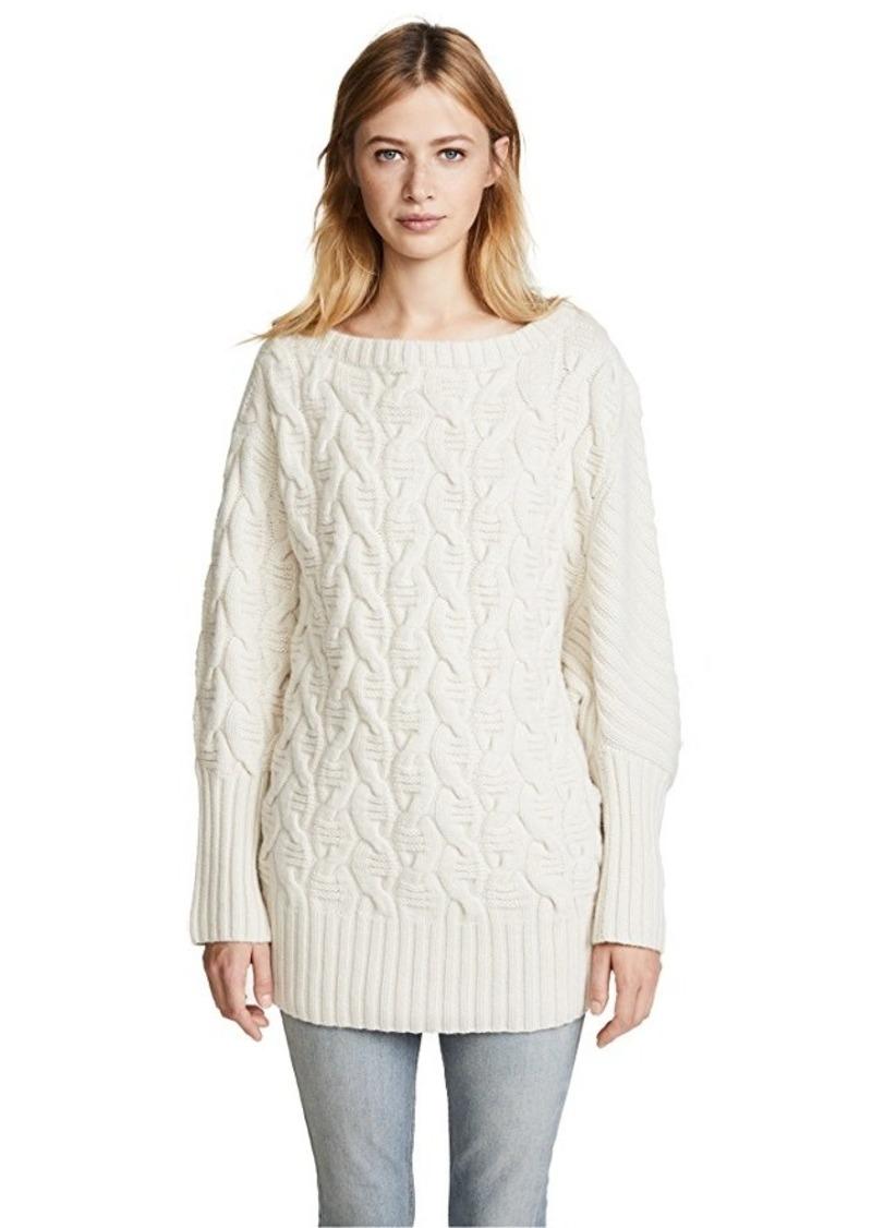 72481600a5 TSE TSE Cashmere Asymmetrical Cable Cashmere Sweater