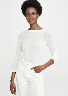 TSE Cashmere Cashmere Pointelle Sweater