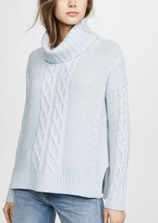 TSE Cashmere Cowl Neck Cashmere Poncho Sweater