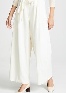 TSE Cashmere Pleated Pants with Belt