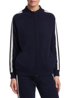 TSE Athletic Strip Zip Cashmere Bomber