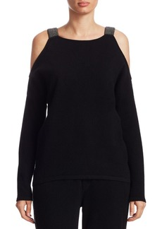 TSE Cashmere Cold-Shoulder Sweater